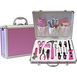 Women 39 s pink 18 piece tool set free shipping on orders for Garden tool set for women
