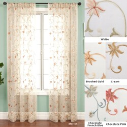 Fleur Rod Pocket 108-inch Curtain Panel