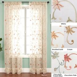 Fleur Rod Pocket 120-inch Curtain Panel