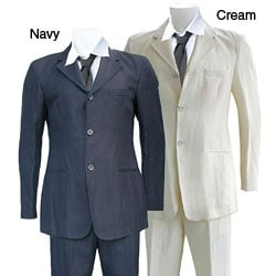 Thumbnail 1, Armani Men's Three-button Hemp Suit.