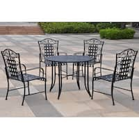 International Caravan Mandalay 5-Piece Iron Patio Dining Set