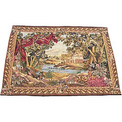 Herat Oriental Handmade French-style Tapestry (4'8 x 6'7)