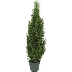 Cedar Tree 4-foot Indoor/ Outdoor Silk Pine