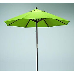 Lauren & Company Round 9-foot Lime-Green Polyester/Hard Wood Patio Umbrella
