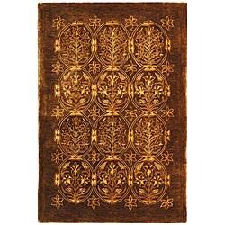 Safavieh Handmade Royalty Dark Olive New Zealand Wool Rug (4 ' x 6')
