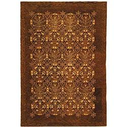 Safavieh Handmade Royalty Dark Olive New Zealand Wool Rug - 5' x 8' - Thumbnail 0