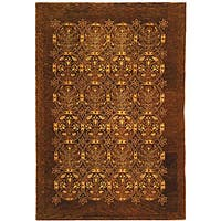 Safavieh Handmade Royalty Dark Olive New Zealand Wool Rug - 5' x 8'