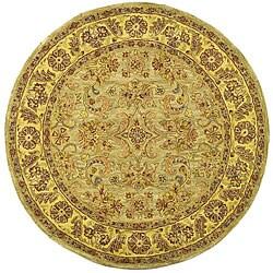 Safavieh Handmade Classic Kasha Gold Wool Rug (3'6 Round)