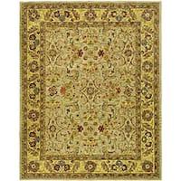 Safavieh Handmade Classic Kasha Gold Wool Rug - 8'3 x 11'