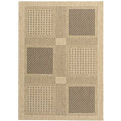 Safavieh Lakeview Sand/ Black Indoor/ Outdoor Rug (2'7 x 5')