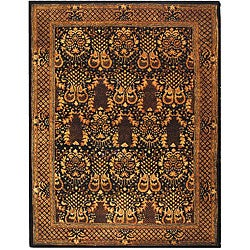 Safavieh Handmade Majestic Black New Zealand Wool Rug - 7'6 x 9'6 - Thumbnail 0