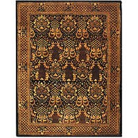 Safavieh Handmade Majestic Black New Zealand Wool Rug (7'6 x 9'6) - 7'6 x 9'6