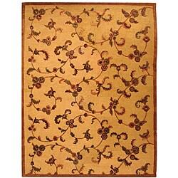Safavieh Handmade Paradise Gold New Zealand Wool Rug (7'6 x 9'6)