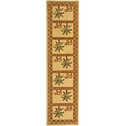 Safavieh Hand-hooked Elephant and Palm Ivory Wool Runner (2'6 x 10') - Thumbnail 0