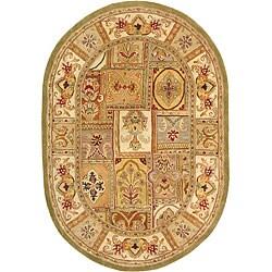 "Safavieh Handmade Classic Empire Wool Panel Rug - 7'6"" x 9'6"" Oval - Thumbnail 0"