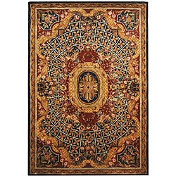 Safavieh Handmade Empire Royal Blue/ Burgundy Wool Rug - 9'6 x 13'6 - Thumbnail 0