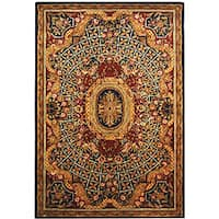 Safavieh Handmade Empire Royal Blue/ Burgundy Wool Rug - 9'6 x 13'6