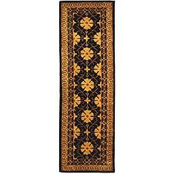 Safavieh Handmade Classic Agra Green/ Apricot Wool Runner (2'3 x 12')