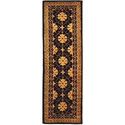 Safavieh Handmade Classic Agra Green/ Apricot Wool Runner Rug - 2'3 x 12' - Thumbnail 0