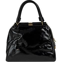 YSL 'Majorelle' Black Patent Leather Medium Bag - Thumbnail 0