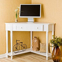 Armstrong White Corner Computer Desk