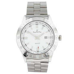 Paul Du Pree Steel Men's White Dial Watch