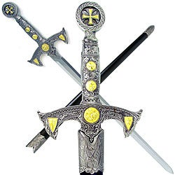 Knight's Templar 39-inch Sword with Hard Scabbard