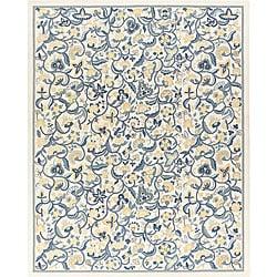 Nourison Hand-hooked Williamsburg Beige Rug (2'6 x 8') - Thumbnail 0
