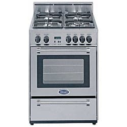 Stainless Steel 24 Inch Gas Range