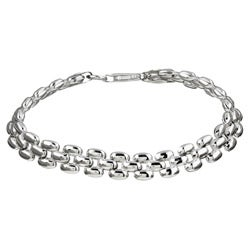 Sterling Essentials Sterling Silver 7-inch Panther Link Bracelet