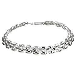 Sterling Silver 7-inch Panther Link Bracelet