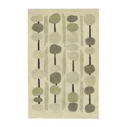 Thumbnail 1, Hand-tufted Arlon Beige Wool Rug (9' x 13').