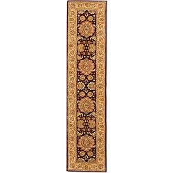 Safavieh Handmade Treasures Burgundy/ Beige Wool Runner (2'3 x 12')