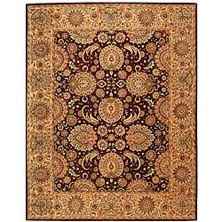 Safavieh Handmade Treasures Burgundy/ Beige Wool and Silk Rug - 10' x 14' - Thumbnail 0