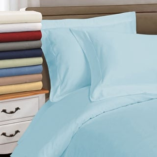 superior egyptian cotton thread count solid duvet cover set