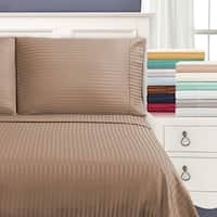 Superior Egyptian Cotton 650 Thread Count Olympic Queen Stripe Sheet Set