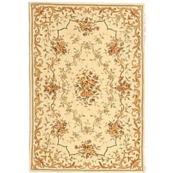 Safavieh Handmade Paradise Bouquet Ivory Wool and Silk Rug (5' x 8')