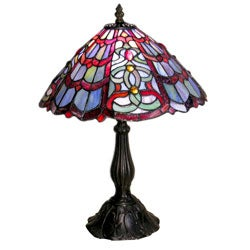 Tiffany-style Red/ Green Table Lamp