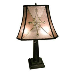 Mica-style Table Lamp