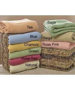 Admire Home Living Christy Australian Merino Lamb's Wool Blanket - Thumbnail 0