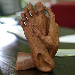 Wood 'Take Action' Statuette (Indonesia)
