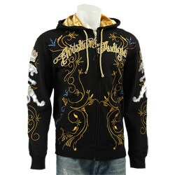 6f78c645 Christian Audigier Men's Black 'Live Life' Hoodie | Overstock.com Shopping  - The Best Deals on Hoodies