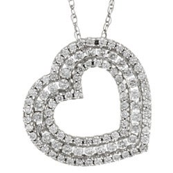 14k Gold 1/2ct TDW Diamond Heart Necklace (G-H, I1)