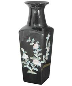 Black Square Porcelain Vase (China)