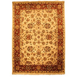 Hand-knotted Suresh Wool Rug (9' x 12')