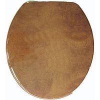 Wood Grain Molded Wood Toilet Seat