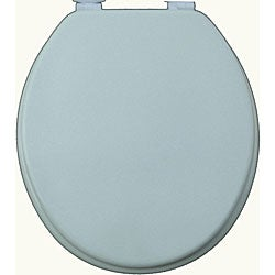 Shop Cool Grey Solid Molded Wood Toilet Seat Free