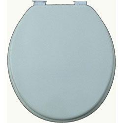 Grey Solid Molded Wood Toilet Seat