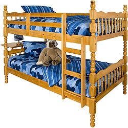 Shop Melissa Honey Pine Twin Bunk Beds Free Shipping