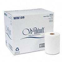 Bleached Non-perforated Roll Towels (Pack of 12)